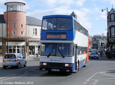 Stagecoach 16651 (R251NBV), Workington, 9th March 2010