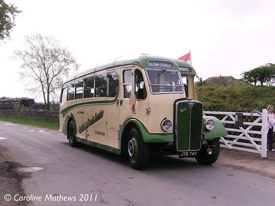 Cumbria Classic Coaches JTB749, Eden Valley Railway, Warcop, 23rd April 2011