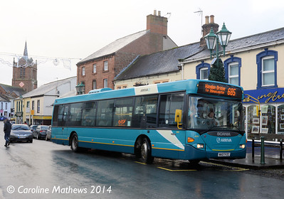 Arriva North East 4660 (NK07FZC), Brampton, 20th December 2014