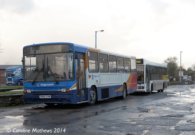 Stagecoach 20945 (R945XVM), Brough, 7th December 2014