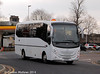 Turning from Bridge Lane into Southend Road in Penrith on 9th March 2014 is H & S Coach Hire B12HNS