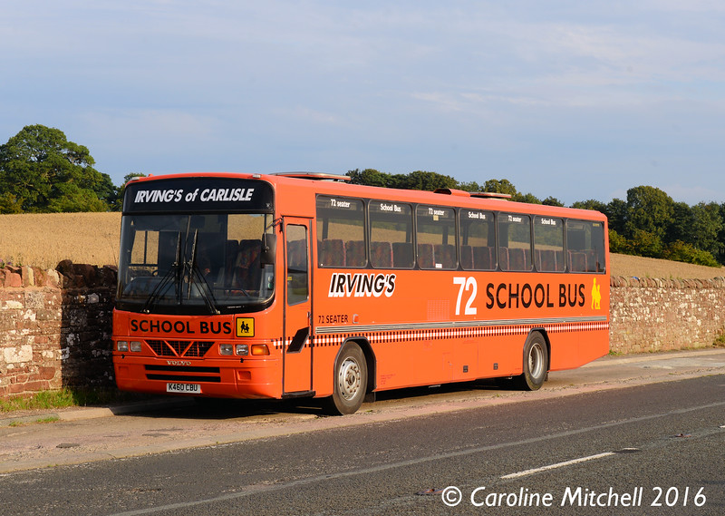 Irving's of Carlisle K460CBU, A6, 27th August 2016