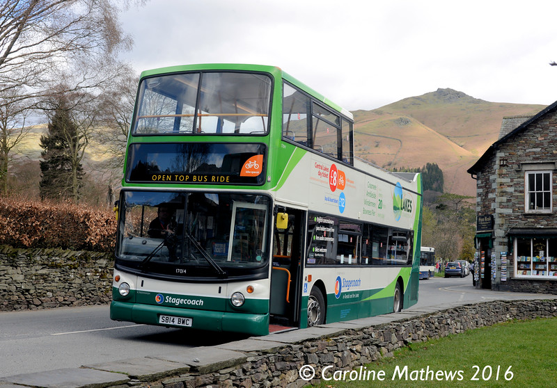 Stagecoach 17014 (S814BWC), Grasmere, 16th April 2016
