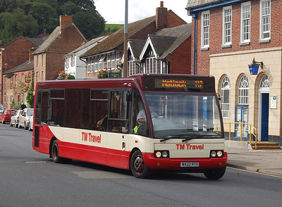 TM Travel 422 (W422RTO), Ashbourne, 14th September 2012