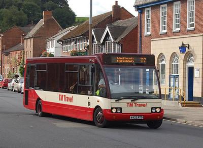 TM Travel 422 (W422RTO), Ashbourne, 14th September 2012