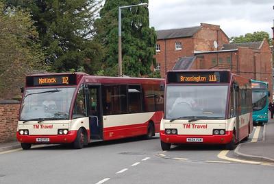 TM Travel 421 (W421RTO) & 1169 (MX04VLM), Ashbourne, 10th September 2012