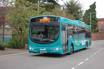 trentbarton 738 (FJ09BXC), Ashbourne, 10th September 2012