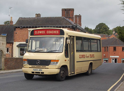 Clowes Coaches T459JRH, Ashbourne, 14th September 2012
