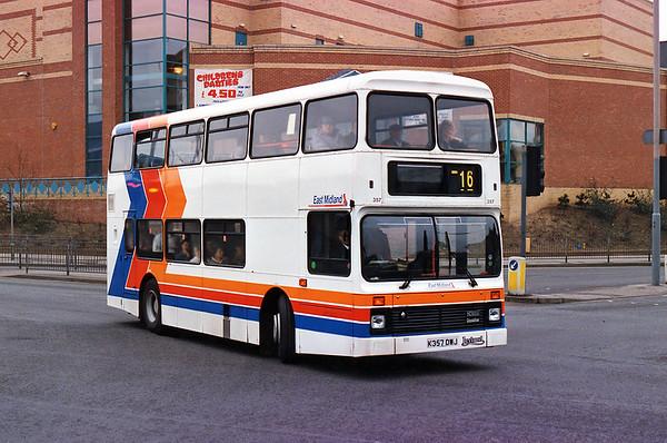 357 K357DWJ, Mansfield 20/2/1993