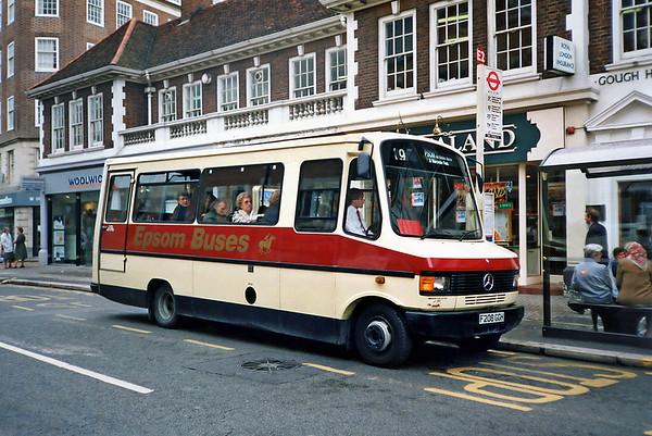 Epson Buses F208GGH, Kingston-upon-Thames 17/5/1991