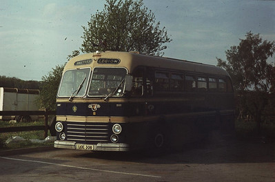 Leyland Royal Tiger/Duple Roadmaster, now preserved, one of two bought secondhand by South Notts. This one spent many years with the Royal British Legion in Gotham, near South Notts' depot.