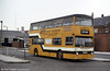 Stevenson's former LT DMS 241 (JGF 241K) now numbered 47, at Burton Bus Station in February 1984.