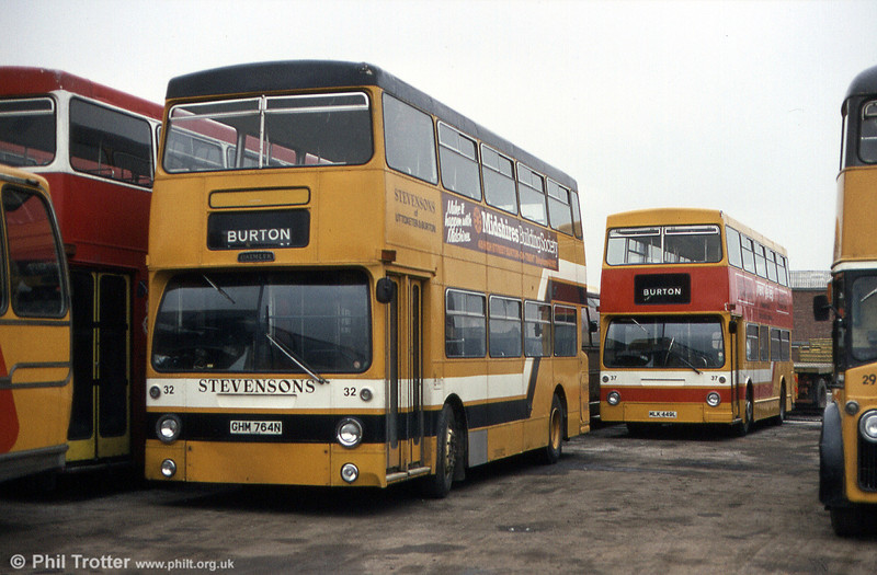 32 (GHM 764N), another ex-London Transport vehicle, formerly DM1764.