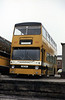 Stevenson's re-registered former LT DMS 1689 (THM 689M) in February 1984. This bus had been acquired by Stevenson's in 1983 and substantially rebuilt with a new chassis and parts from three vehicles, hence the registration CBF 31Y.