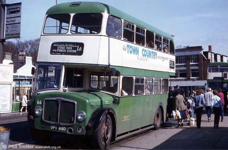 Ipswich 66 loads up with shoppers at Ipswich Bus Station.