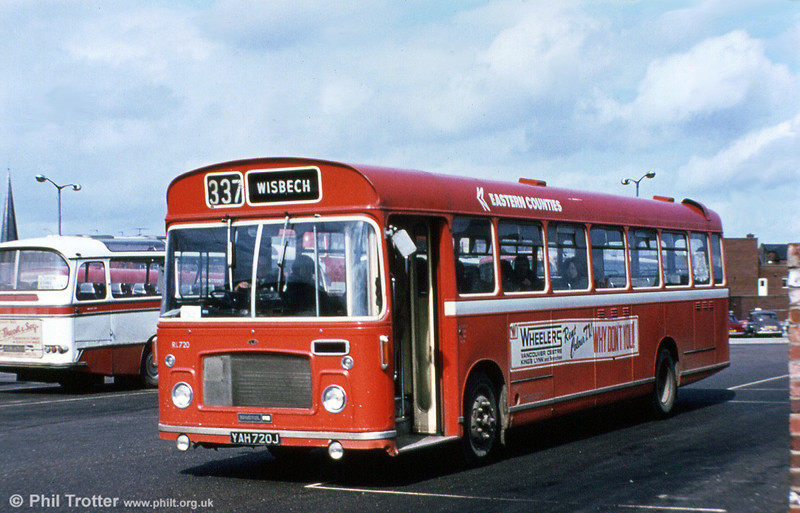 ECOC RL720 was a standard Bristol RELL6G/ECW B53F, built in 1970.
