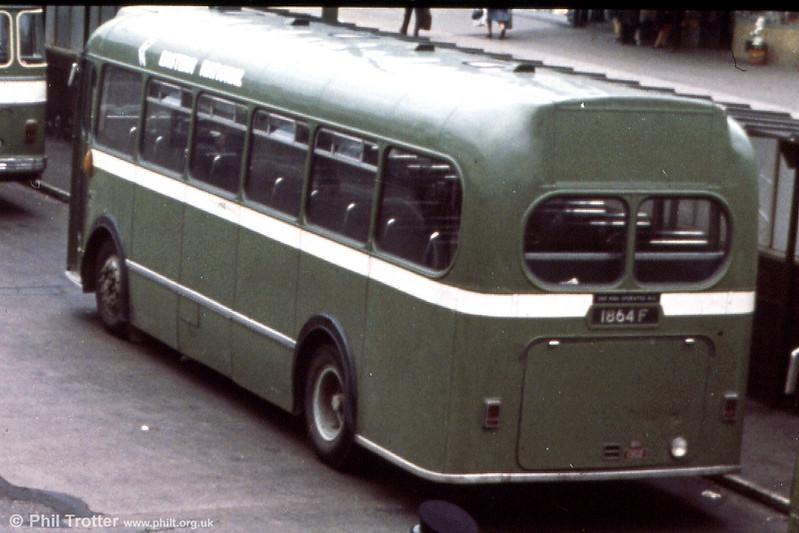 Eastern National 460 (1864 F), a 1958 Bristol MW5G/B41F.
