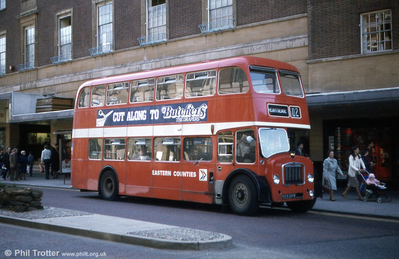 LFL 59 (559 BPW) in service in the centre of Norwich.