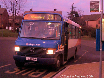 Stagecoach 42590 (T590SKC), Eckington, 30th December 2004