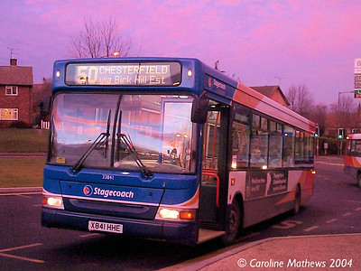 Stagecoach 33841 (X841HHE), Eckington, 30th December 2004