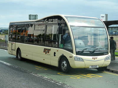 EVE of Dunbar Optare Solo SR at Ocean Terminal Leith operating service 129 to Seton Sands via Musselburgh