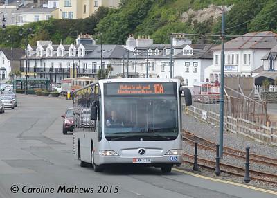 Bus Vannin 227 (LMN-227-H), King Edward Road, 21st June 2015