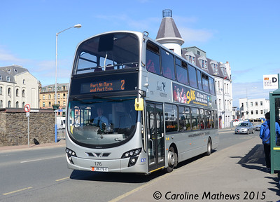 Bus Vannin 176 (LMN-176-K), Douglas, 22nd June 2015