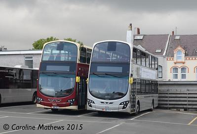 Bus Vannin 160 (JMN-46-R) and 171 (LMN-171-K), Ramsey, 23rd June 2015