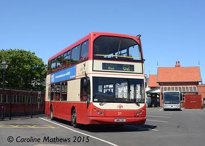 Bus Vannin 21 (HMN-246-J), Port Erin, 22nd June 2015