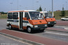 TGV+: connecting minibuses at Le Creusot, France in August 1984.