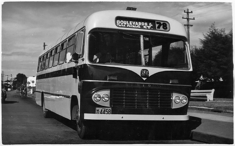 m/o 4458 BEDFORD SB1/CCMC 61.183 (1962) – Photo Location: The Crescent, Fairfield. Photo Date: c1962 (Photo from the K. Magor Collection) (NOTE: Sold to Hornsby Bus Co. - 1970)