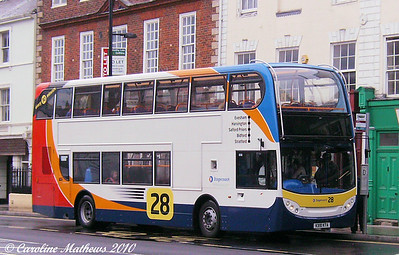 Stagecoach 15672 (KX10KTA), Evesham, 13th August 2010