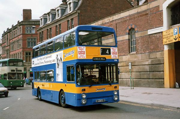 170 OBN506R, Liverpool 24/7/1991
