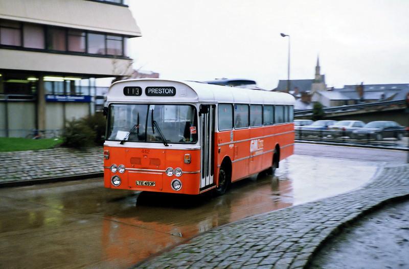 442 LTE493P, Preston 20/3/1991