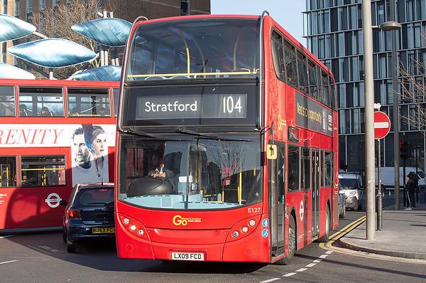 E127 LX09FCD, Stratford 27/2/2019