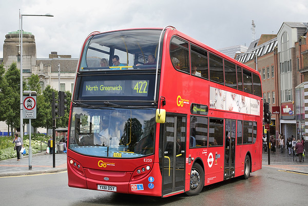 E233 YX61DSY, Woolwich 25/6/2016