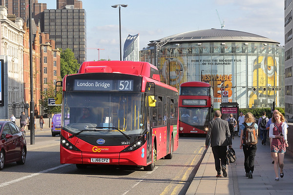 SEe21 LJ66CFZ, Waterloo Bridge 25/8/2017
