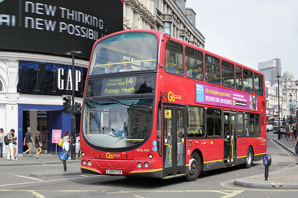 WVL164 LX05FCD, Piccadilly Circus 18/8/2016