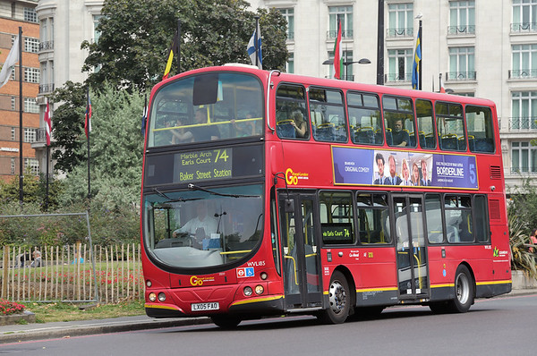 WVL185 LX05FAO, Marble Arch 18/8/2016