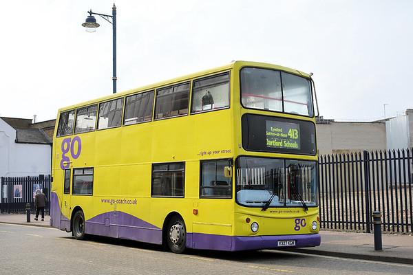 Go-Coach V327KGW, Dartford 27/3/2014