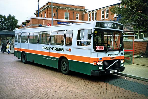 915 H915XYT, Golders Green 16/5/1991