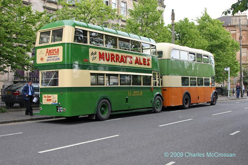Vintage buses at South Side festival