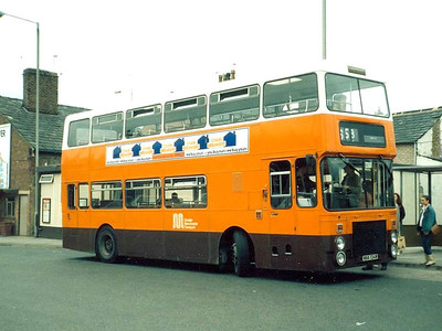 1446 (NNA134W) was a Northern Counties bodied Volvo Ailsa MkII. Leigh, 9th June 1986