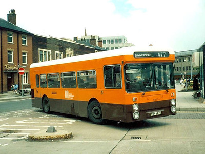 1697 (TWH697T) was a bit odd! It started out as Lancashire United 522, a Northern Counties bodied Daimler Fleetline. It became GMPTE 6938 and was rebuilt to single deck format following an accident.