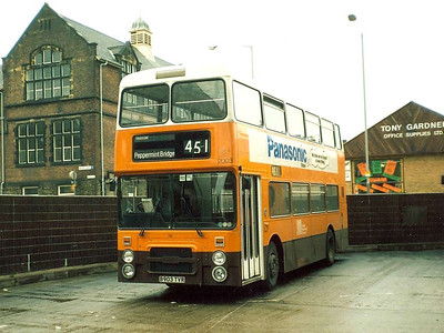 Also screened for Peppermint Bridge was NCME bodied Dennis Dominator 2003 (B903TVR), 9th June 1986