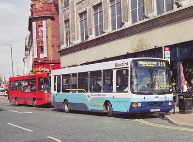 Bluebird 30 (P30BLU), Oldham Street, Manchester, 1997