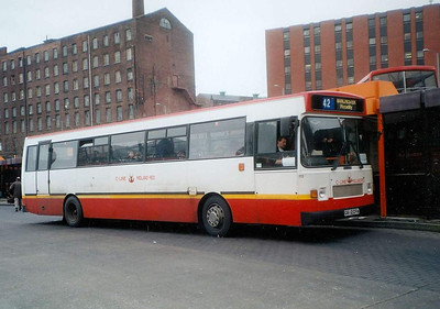 C-Line 1112 (G612CFA), a Plaxton bodied Scania K93, Stockport Bus Station, 7th April 1993