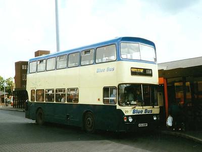 Blue Bus 29 (KJA189P), Wigan Bus Station