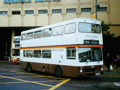Finglands MCW Metrobus Mk II 1727 (E474SON) turning from Cannon Street into Corporation Street on 12th August 1993