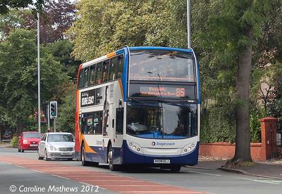 Stagecoach 19238 (MX08GLJ), Manchester, 1st September 2012